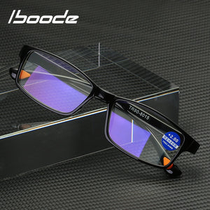 Iboode Unisex TR90 Ultralight Anti Blue-Ray Reading Glasses Anti Blue Light Presbyopic Hyperopia +1.0 To +4.00