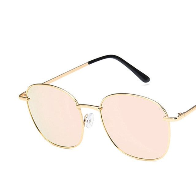 RBROVO Vintage Large Frame Women Sunglasses Lady Luxury Retro Metal PLS330140
