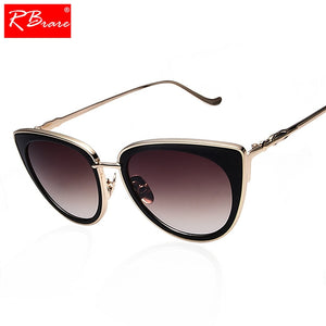 RBRARE Metal Frame Cat Eye Women Sunglasses Alloy Legs PL8927