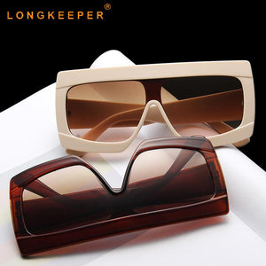 LongKeeper Oversized Sunglasses Women Big Square C-MN2074