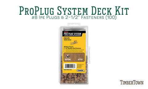 Pro Plug System for Wood Ipe (100)