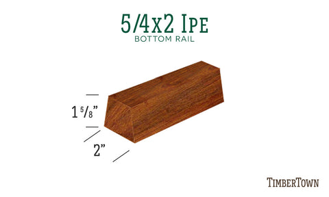 5/4x2 Ipe Bottom Rail