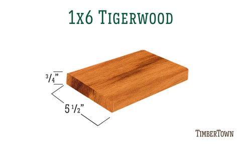 1x6 Tigerwood Decking