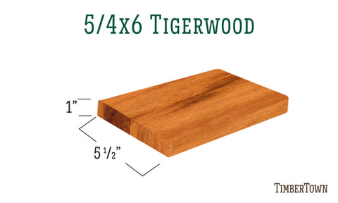 5/4x6 Tigerwood Decking