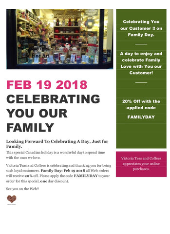 Family Day Promotion