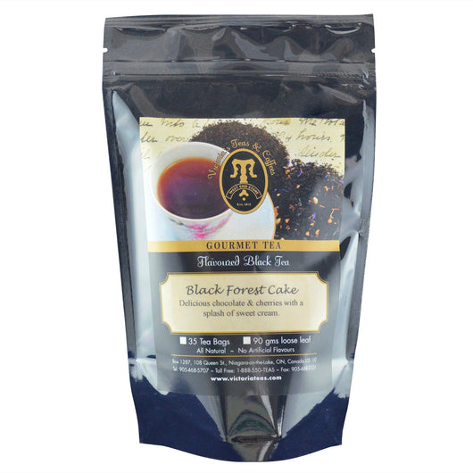 Black Forest Cake Flavoured Black Loose Leaf Tea