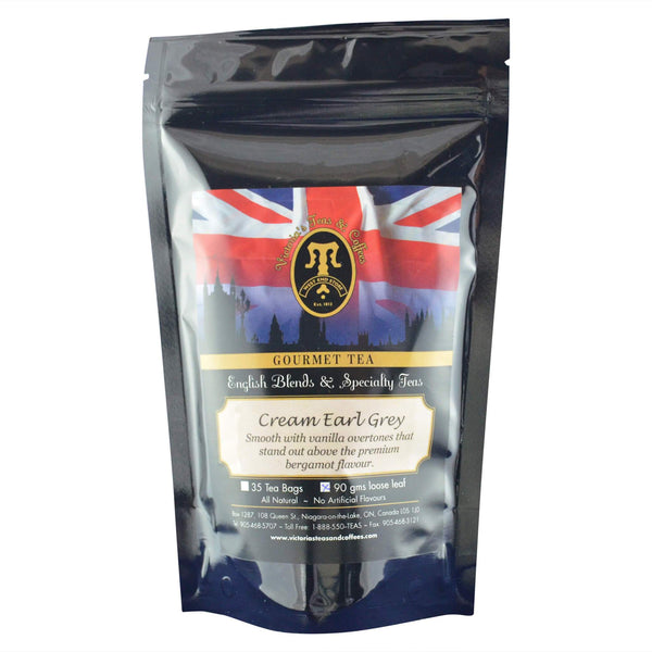 Cream Earl Grey English Loose Leaf Tea Blend