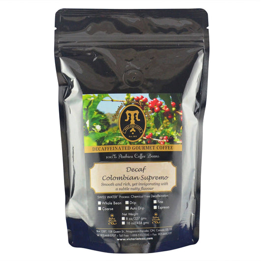 Decaf Colombian Supremo Non Flavoured Decaf Coffee 1/2 lb