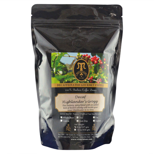 Decaf Highlanders Grogg Flavoured Decaf Coffee 1/2 lb