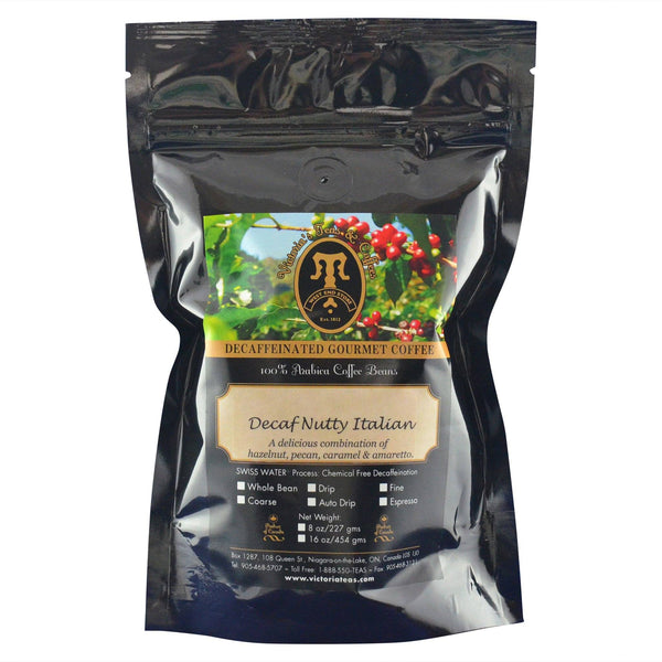 Decaf Nutty Italian Flavoured Decaf Coffee 1/2 lb