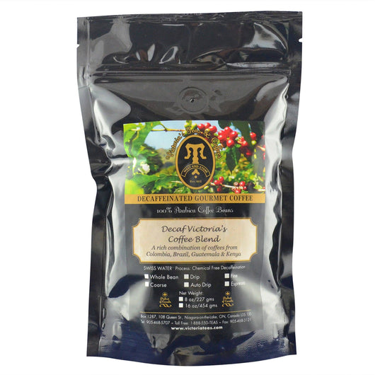Decaf Victoria's Coffee Blend Non Flavoured Decaf Coffee 1/2 lb