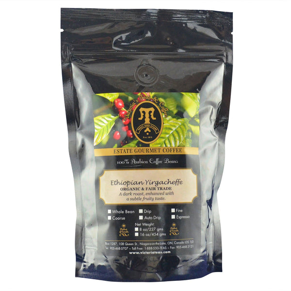 Ethiopian Yirgacheffe Organic and Fair Trade Coffee 1/2 lb