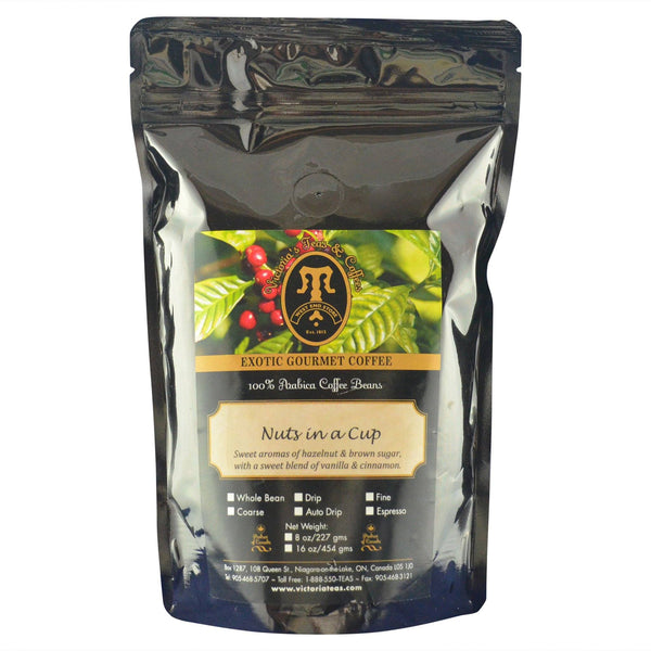 Nuts In A Cup Exotic Flavoured Coffee 1/2 lb