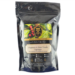 Organic Fair Trade Espresso Organic and Fair Trade Coffee 1/2 lb