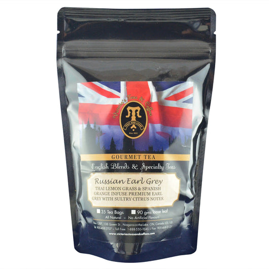 Russian Earl Grey English Loose Leaf Tea Blend 90g