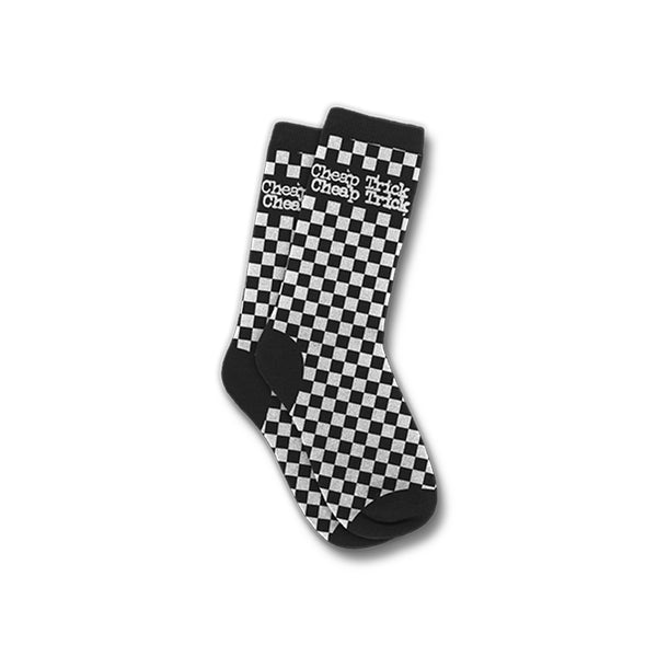 83ede1109ac58 Official Cheap Trick Checkered Logo Socks | Cheap Trick Official Online  Store