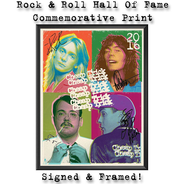 Rock & Roll Hall Of Fame Commemorative Print - Cheap Trick Official Online Store