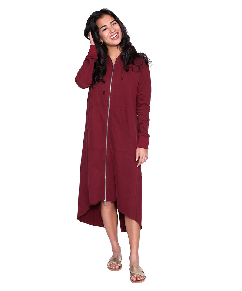 Zip Sweatshirt Dress
