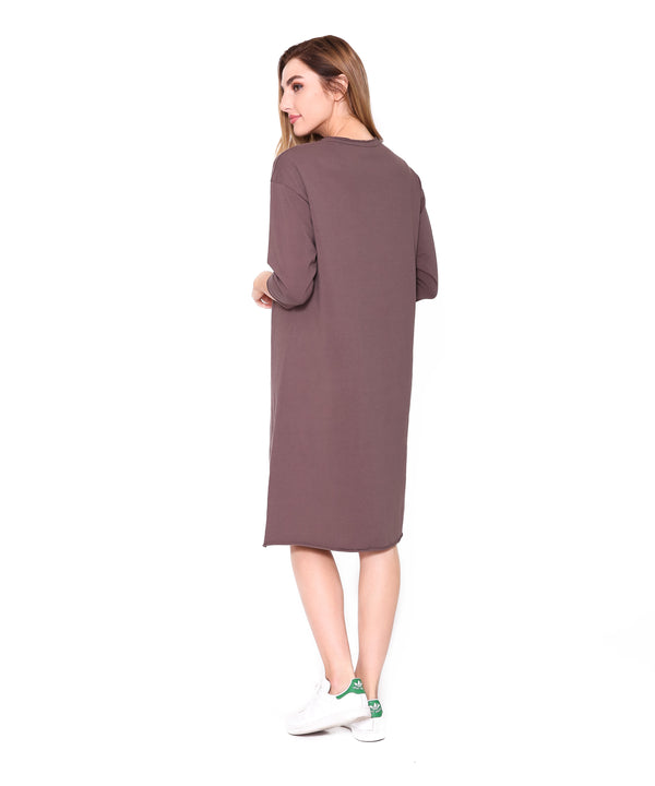 T Dress, Smokey Brown