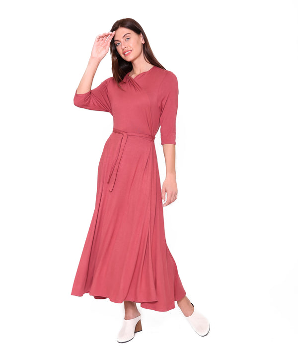 Wrap Dress, Marsala