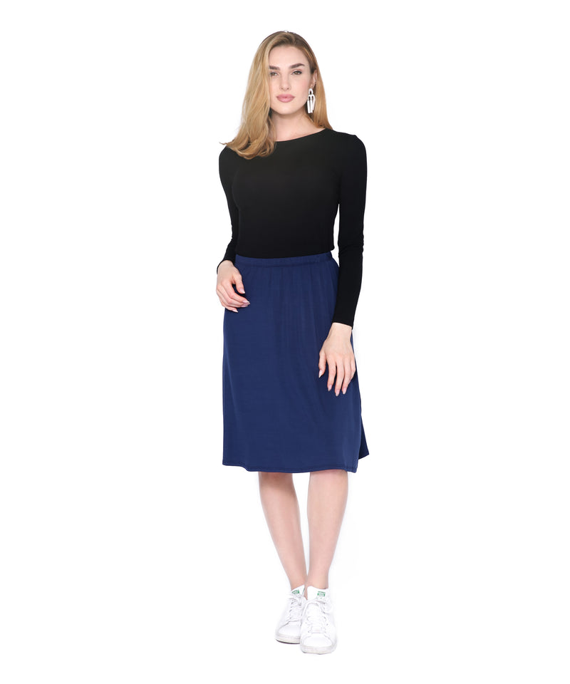 Basic Skirt, Navy