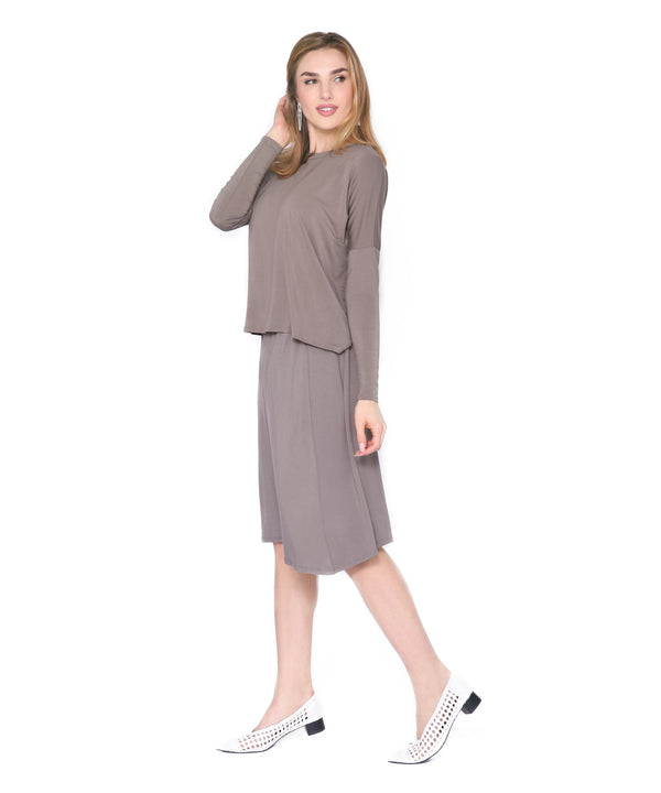 Basic Skirt, Taupe