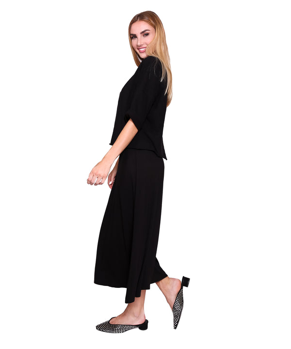 Basic Midi Skirt, Black