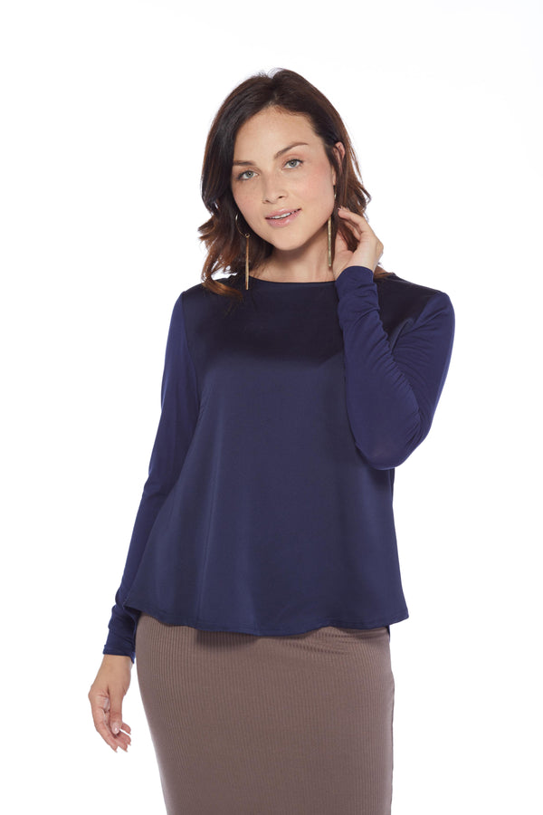 Flutter Shirt, Navy