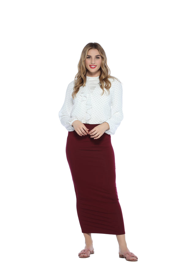Ankle Tube Skirt, Merlot