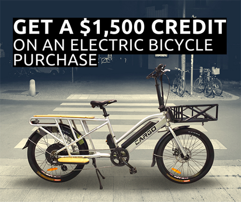 Get a $1,500 Credit on an e-Bike Purchase
