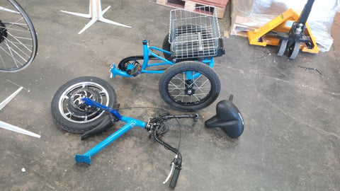 Seperated Liberty Trike Bike for portablity