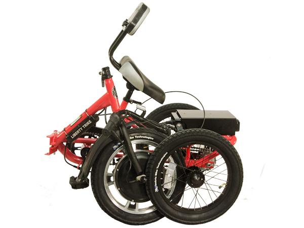 The Liberty Trike folds for easy transportaion and disassembles for storage.