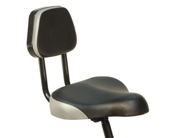 A comfortable seat with a back rest makes triking feel easier