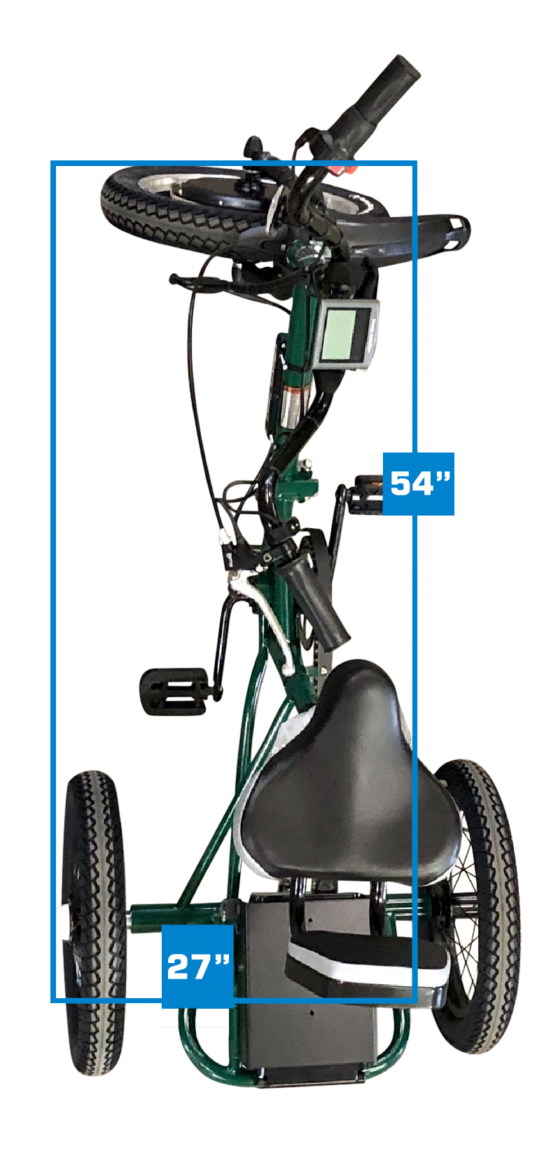 Liberty Trike's overall length and width