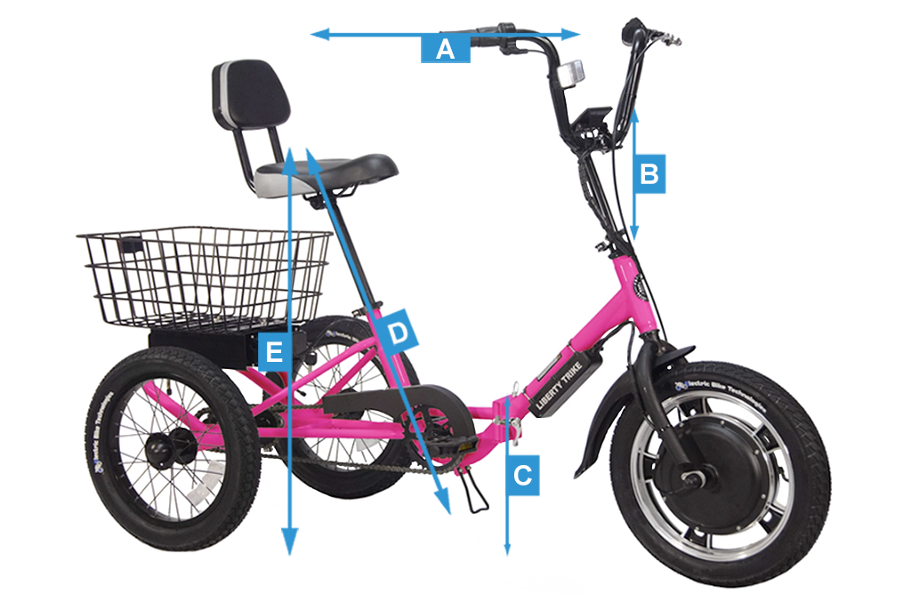 Liberty Trike's many different sizing measurements