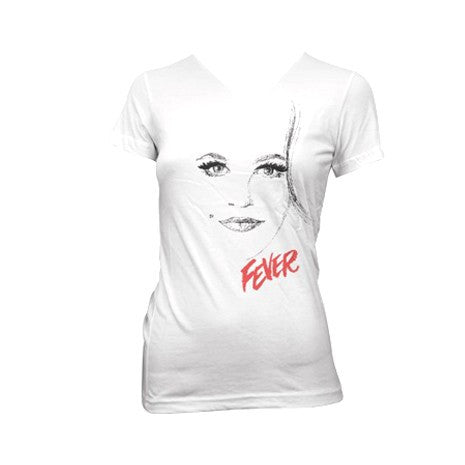 Peggy Lee - Fever Tee (White V-Neck)