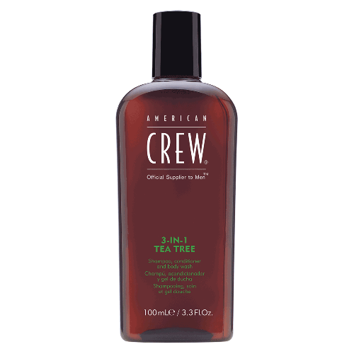 American Crew - 3 in 1 Tea Tree Shampoo, Conditioner, and Body Wash