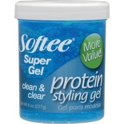 Softee - Super Hold Protein Styling Gel Blue 8 oz