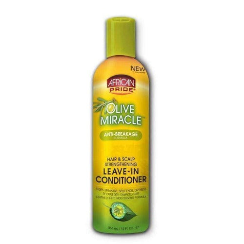 African Pride - Olive Miracle Hair and Scalp Strengthening Leave-In Conditioner 12 fl oz