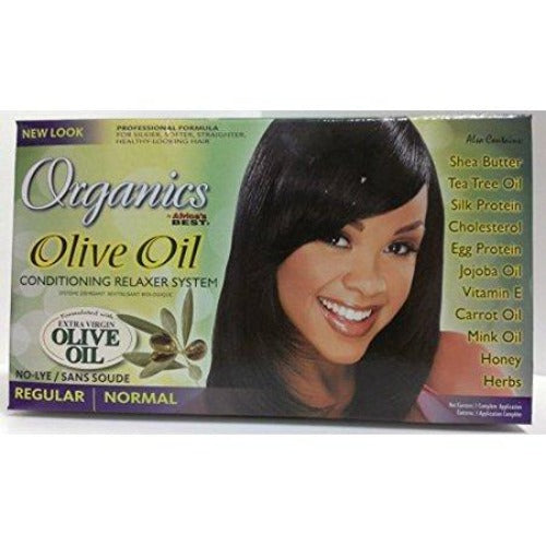 Africa's Best - Organics Olive Oil Conditioning Relaxer System No-Lye Regular