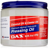 DAX - Genuine Coconut Oil and Castor Oil Premium Styling Pressing Oil