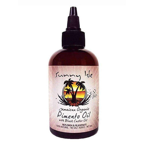Sunny Isle - Jamaican Organic Pimento Oil with Black Castor Oil 4 fl oz