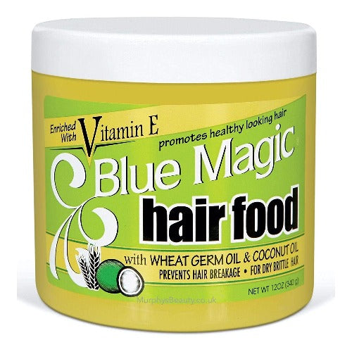 Blue Magic - Hair Food with Wheat Germ Oil and Coconut Oil 12 oz