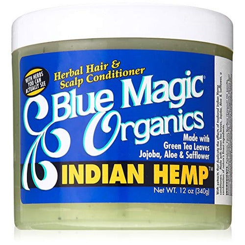 Blue Magic - Original Indian Hemp Herbal Hair and Scalp Conditioner 12 oz