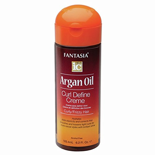 Fantasia IC - Argan Oil Curl Define Creme for Curly and Frizzy Hair 6.2 fl oz