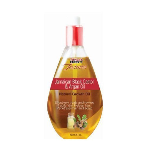 Africa's Best - Textures Ultra-Penetrating Jamaican Black Castor and Argan Oil Natural Growth Oil 5 fl oz