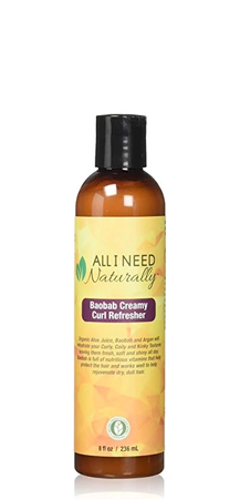 All I Need Naturally Baobab Creamy Curl Refresher 8 oz