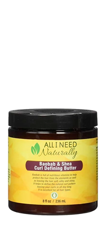 All I Need Naturally Baobab Curl Defining Butter 8 oz