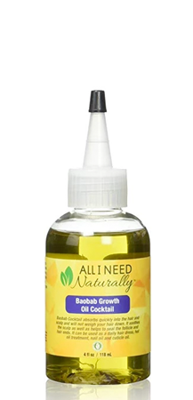 All I Need Naturally Baobab Growth Oil Cocktail 4 oz