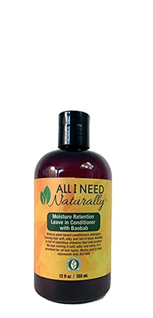 All I Need Naturally Moisture Retention Leave In Conditioner 12 fl oz